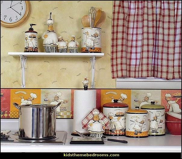 italian bistro kitchen decorating ideas tile floor theme bedrooms - maries manor: fat chef ...