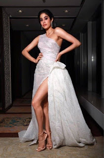 Janhvi Kapoor Hot Leggy Pics In White Dress