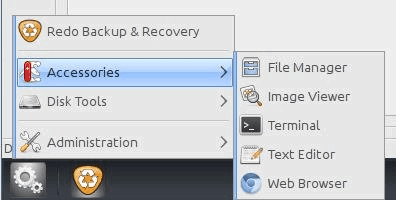 Redo Backup and Recovery Accessories File Manager