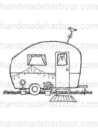 Gypsy Caravan Wagon Coloring Pages Coloring Pages