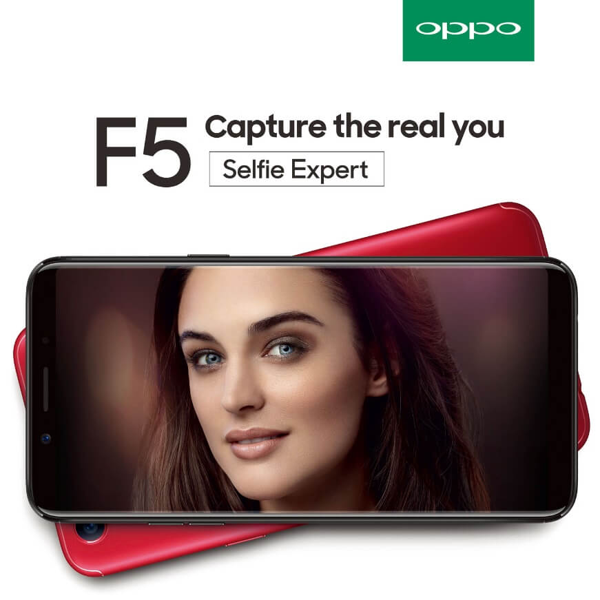 OPPO F5 to Launch in PH on October 26; Features A.I. Beauty Recognition Technology