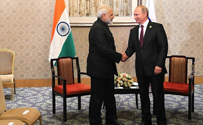 Vladimir Putin held a meeting with Indian Prime Minister Narendra Modi.