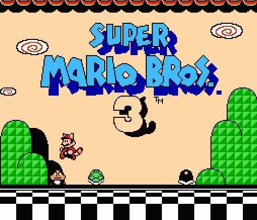 Pantalla de portada de Super Mario Bross 3
