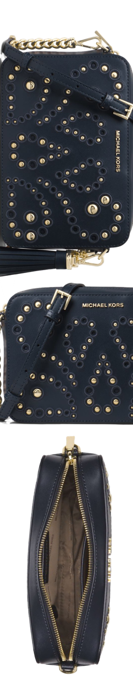 MICHAEL MICHAEL KORS Ginny Medium Embellished Leather Crossbody
