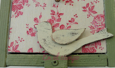silueta de pájaro de madera pintada  bird silohuette  oiseau bois