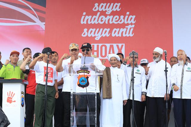 Paman Birin Pimpin Deklarasi Masyarakat Kalsel Anti Hoax