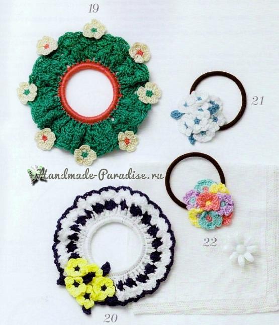 Схемы вязания резиночек с цветами (7)
