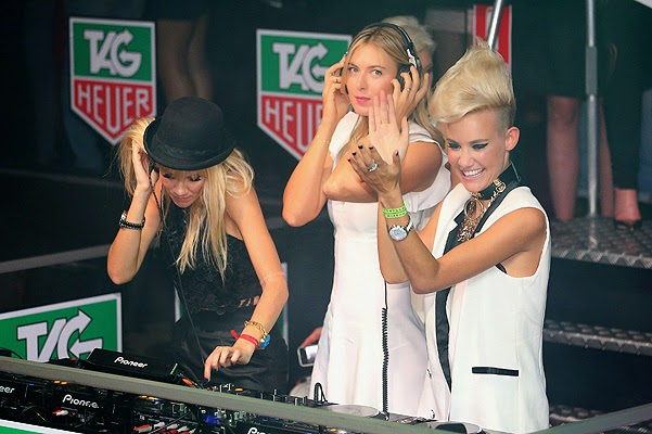 Maria Sharapova and the duo Nervo