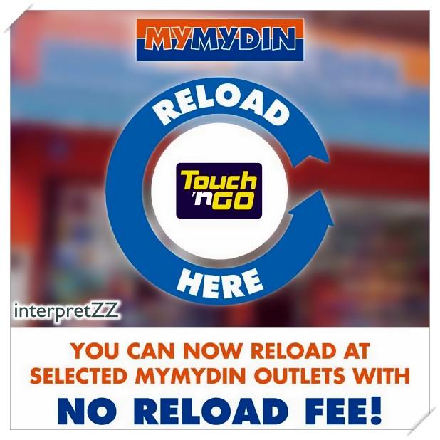 Tambah nilai Touch n Go di MyMydin tanpa caj
