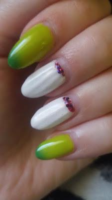 paznokcie hybrydowe zdobienie lakier termiczny muszla 3D mohito cotton candy neonail