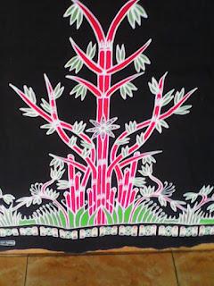 batik motif bambu