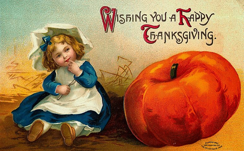 A Collection Of  Funny And Cute Vintage Thanksgiving Postcards Happy Thanksgiving