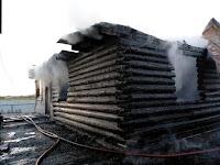 (ФОТО)Пожар городской округ Сухой Лог, с. Таушканское, ул. Советская.