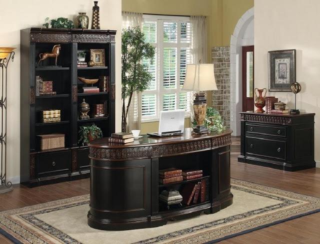 best buy dark wood home office furniture sets El Dorado for sale