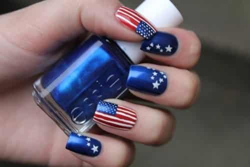 Happy Memorial Day Nail Arts, Nail Polish Design And HD Image Collections