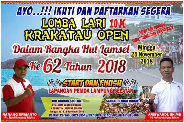 Lomba Lari 10K Krakatau Open • 2018