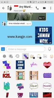 Langkah Uji Coba Hasil Download Stiker BBM Gratis