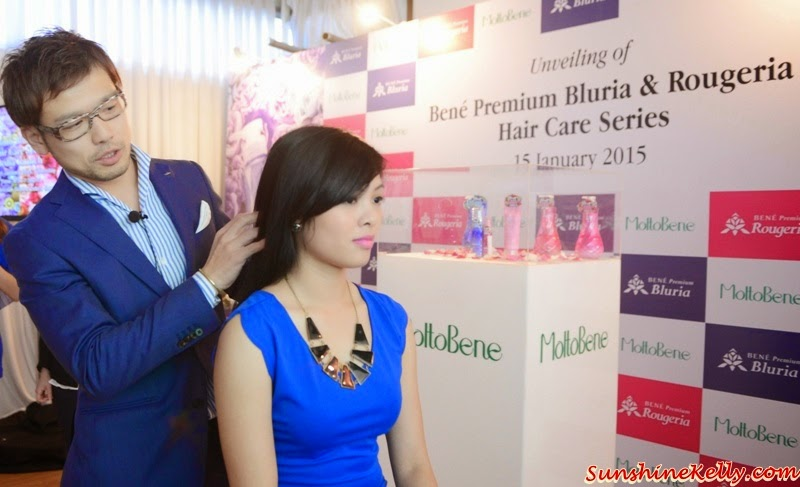 Bene Premium Bluria, Bene Premium Rougeria, MoltoBene in Malaysia, MoltoBene, Hair Care, Japan Hair Product, zebra square, Suzuki Youhei, hairstylist of MoltoBene Japan, scalp massage, hair spa