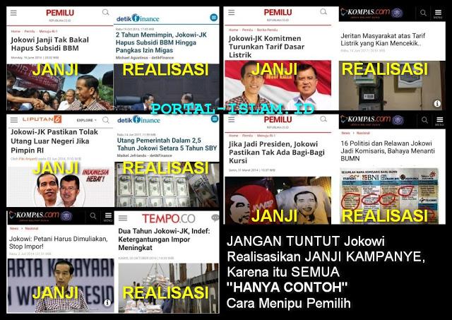 """Jangan Tuntut Jokowi Realisasikan Janji Kampanye, Karena itu Semua """"Hanya Contoh"""" Cara Menipu Pemilih"""