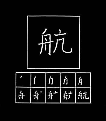 kanji berlayar