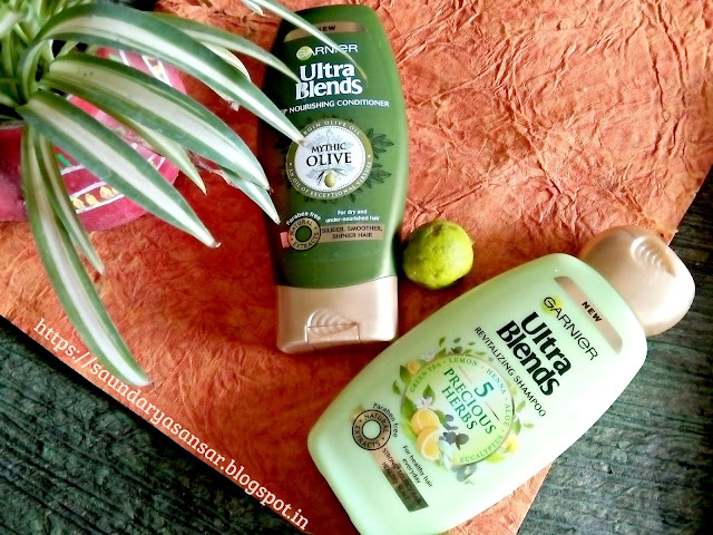 Garnier Ultra Blends-Precious Herbs Shampoo & Mythic Olive Conditioner:Review