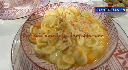 Domenica In - Orecchiette con zucca e lardo ricetta Benedetta Parodi