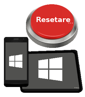 Resetare telefon tableta Windows Phone Mobile