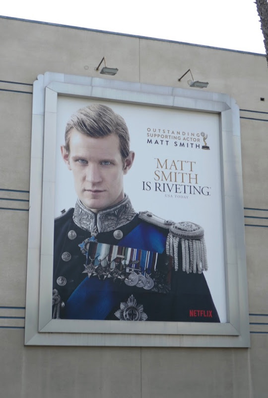 Matt Smith Crown 2018 Emmy nominee billboard