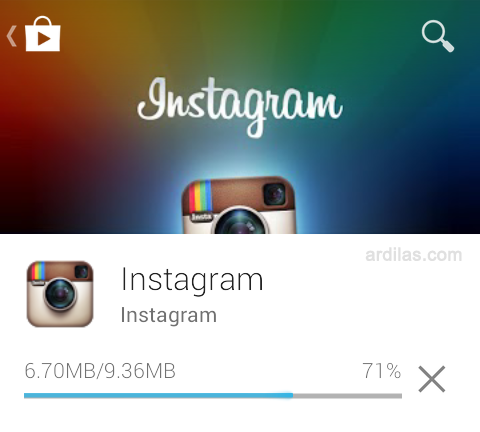 Proses download dan install - Cara Download & Install Aplikasi Instagram - Android