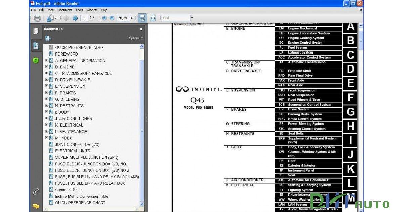 infiniti q45 repair manual download infiniti car