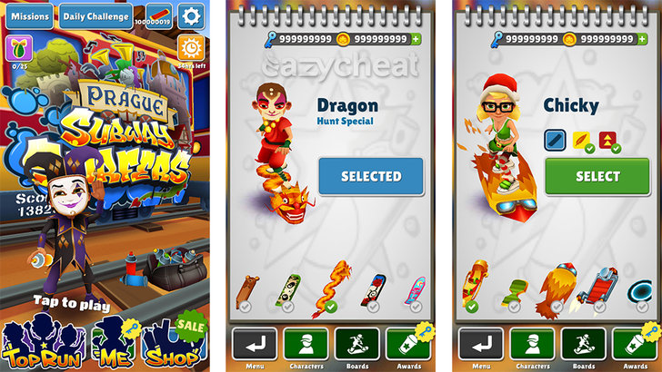 Subway Surfers Cheats - Android Cheats - Hacked Game Save