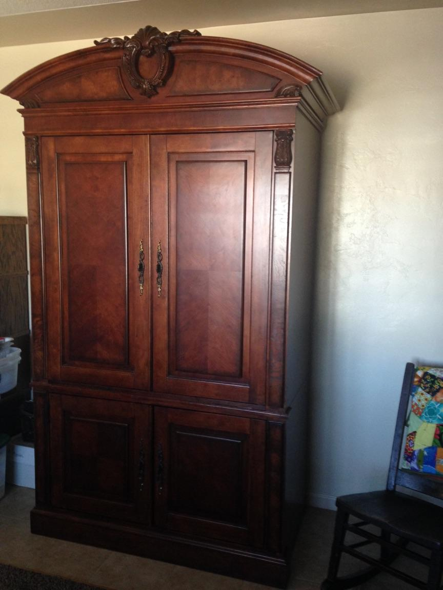 Broyhill Armoire Large Picture Of Seabrooke Media Hutch Small Img Old Armoires