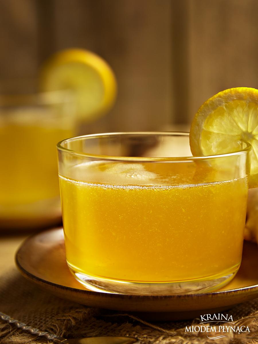 domowy kisiel, kisiel cytrynowy z imbirem, kisiel z cytryny i imbiru, zdrowy deser, kraina miodem płynąca