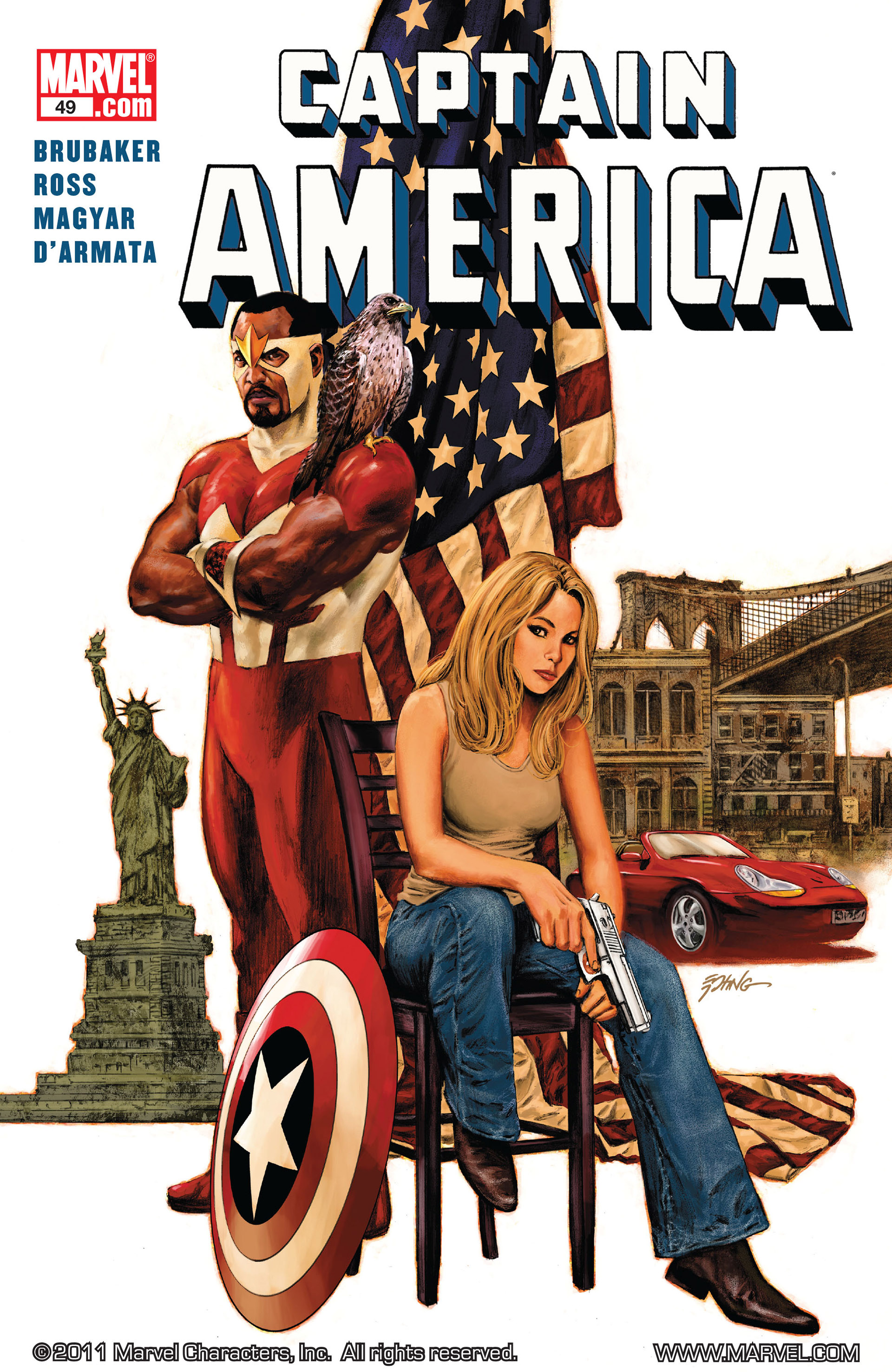 Read online Captain America (2005) comic -  Issue #49 - 1