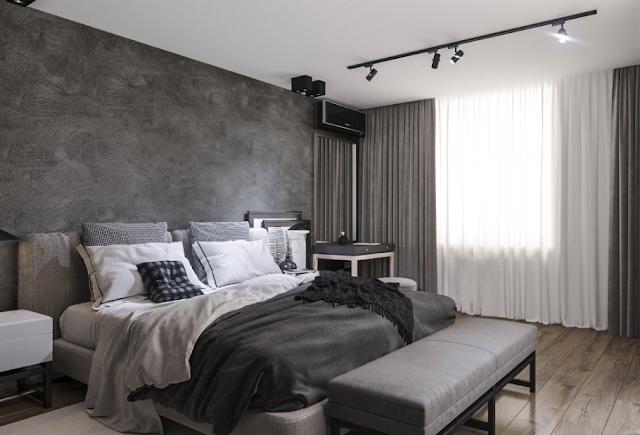 interior apartemen 2 bedroom, interior kamar apartemen, interior minimalis apartemen