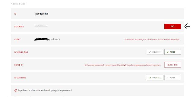 How to change the PB password