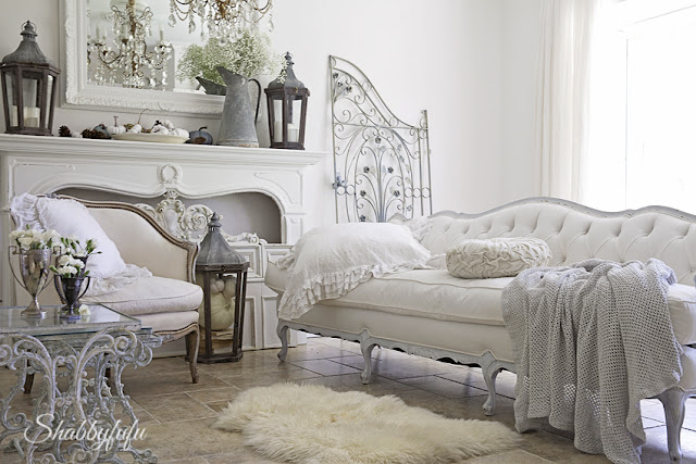 white tufted french sofa