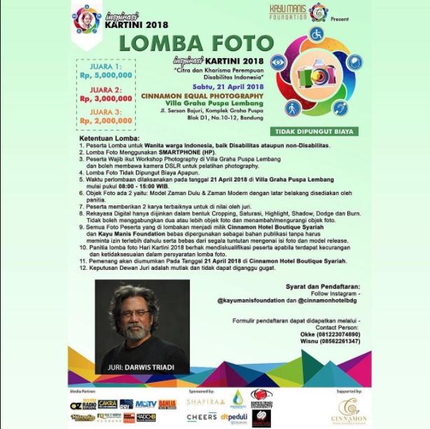 Lomba Fotografi Inspirasi Kartini 2018 di Lembang Bandung