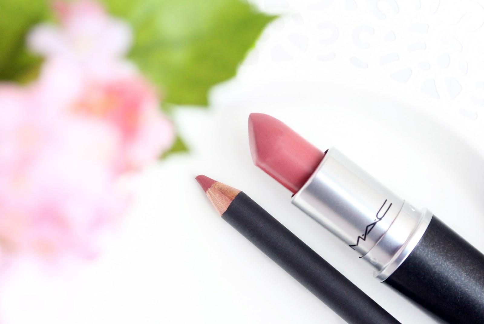 mac soar lip pencil and mac brave lipstick