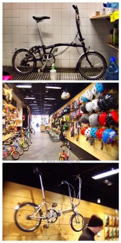 Tienda Bike Gracia, barcelona, Brompton, Bickerton