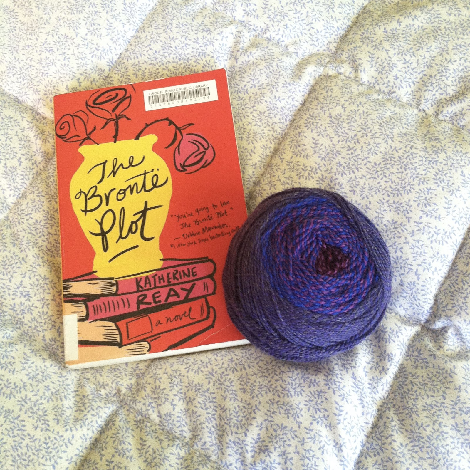 Just starting The Brontë Plot and mulling over hat patterns for Erik. He  picked out this one-of-a-kind crazy Stonehedge Farms yarn at Skeins on  Main, ...