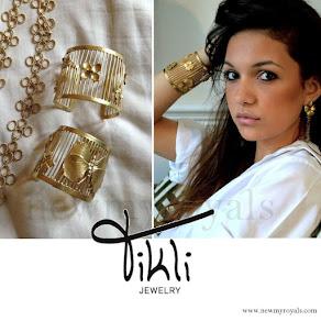 Queen Mathilde Style Jeweler Tikli Jewelry Hortensia Flower Cuff Bracelet