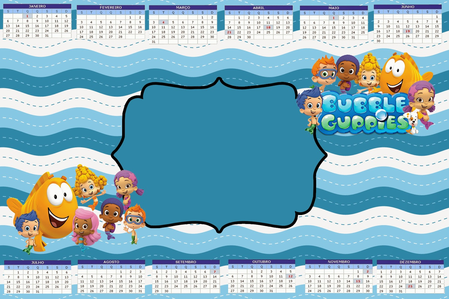 Bubble guppies free party printables oh my fiesta in english 2014 free printable calender maxwellsz