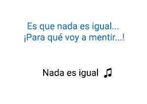 Franco de Vita Nada es Igual significado de la canción.