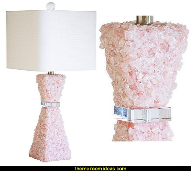 Couture Barrington Pink Quartz Stone Table Lamp  Blush pink decorating - blush pink decor - blush and gold decor - blush pink and gold bedroom decor -  blush pink gold baby girl nursery furniture - blush art prints - rose gold bedroom decor -