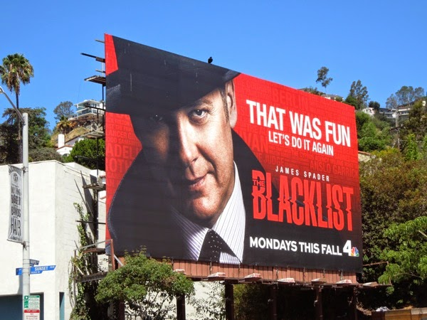Blacklist That was fun let's do it again season 2 teaser billboard