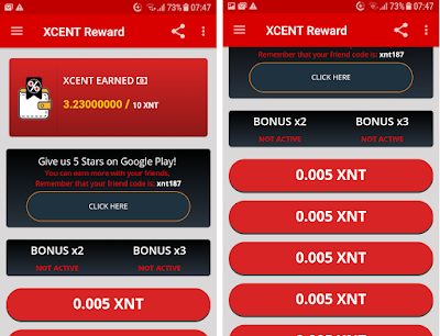 XCent Reward