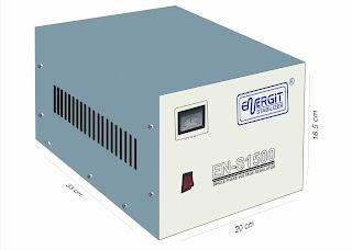 Medidas de estabilizador solido de 1500W 1.5 kW / 1.5 kVA - 220vac