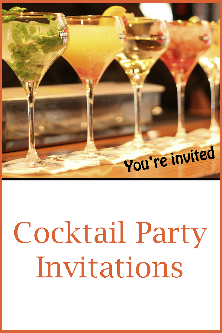 Dream Cocktails Cocktail Party Invitations