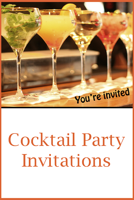 Great selection of custom cocktail party invitations.